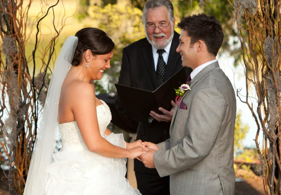 Mark and Mariel ceremony with officiant
