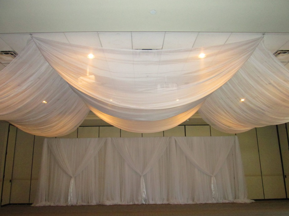 Fabric Draping From Ceiling 28 Images 21ft 12 Panel Sheer Fabric Ceiling Draping In Assorted