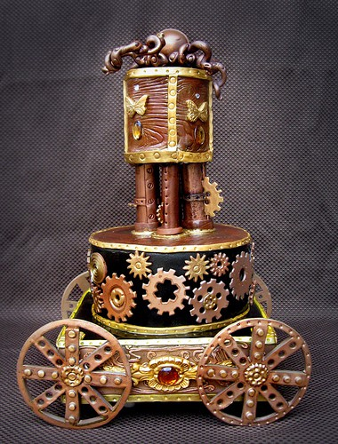 steampunk-wedding-cake