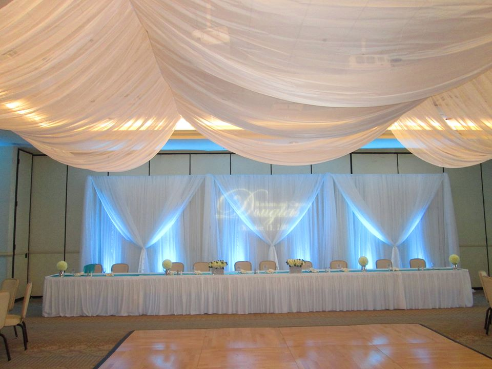 Charleston Wedding Reception Traditional Pipe And Drape Vs Custom Draping