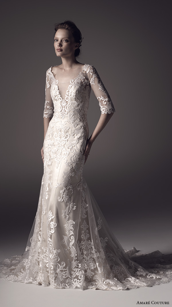 amare-couture-ss-2016-lace-half-sleeves-illusion-scoop-v-neck-fully-embellished-elegant-2in1-trumpet-fit-flare-overdress-wedding-dress-keyhole-back-chapel-train-marilyn-mv